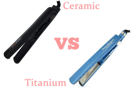 Ceramic vs Titanium Hair Straightener