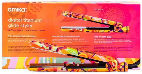 Amika Obliphica Digital Titanium Glide Styler 1 Inch