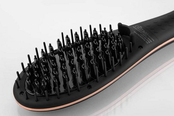 heated hair straightening brush